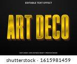 art deco text effect template... | Shutterstock .eps vector #1615981459
