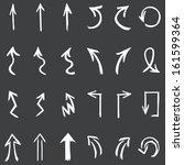 vector set of white hand drawn... | Shutterstock .eps vector #161599364