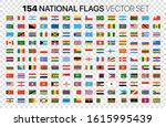 154 national flags vector set... | Shutterstock .eps vector #1615995439