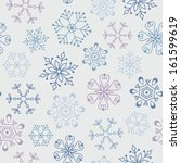 seamless vintage pattern with... | Shutterstock .eps vector #161599619