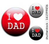 i love dad sign and labels on... | Shutterstock .eps vector #161599856