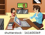 a vector illustration of mother ... | Shutterstock .eps vector #161600369