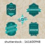 vintage labels set | Shutterstock .eps vector #161600948
