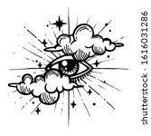 eye of providence. masonic... | Shutterstock .eps vector #1616031286