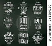 set of vintage typographic... | Shutterstock .eps vector #161604110