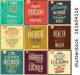 set of vintage typographic... | Shutterstock .eps vector #161604116
