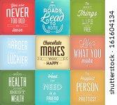 set of vintage typographic... | Shutterstock .eps vector #161604134