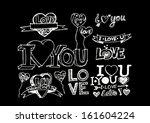 i love you valentine's day | Shutterstock .eps vector #161604224