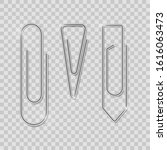 clip set. realistic paperclip... | Shutterstock .eps vector #1616063473