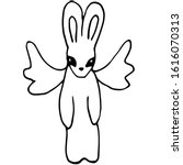 rabbit or hare with wings ... | Shutterstock .eps vector #1616070313