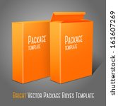 two realistic bright orange... | Shutterstock .eps vector #161607269