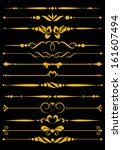 set of decorative design... | Shutterstock .eps vector #161607494