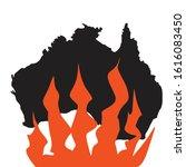 australia black silhoette.... | Shutterstock .eps vector #1616083450