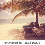 beach scene | Shutterstock . vector #161610278