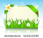 sheet of paper in the green... | Shutterstock . vector #161612240
