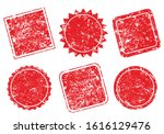 grunge post stamps collection ... | Shutterstock .eps vector #1616129476