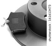 isolated car brake  | Shutterstock . vector #161613473
