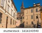 Belltower of Piacenza Cathedral (Italian: Duomo di Piacenza or Cattedrale di Santa Maria Assunta e Santa Giustina). It is a Roman Catholic cathedral in Piacenza, Italy.