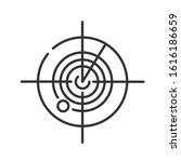 radar black line icon. marine... | Shutterstock .eps vector #1616186659