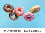 Flying Donuts. Mix Of...