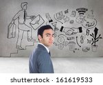 composite image of unsmiling... | Shutterstock . vector #161619533