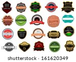 labels and banners set in... | Shutterstock .eps vector #161620349