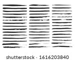 stencil lines and brush...   Shutterstock .eps vector #1616203840