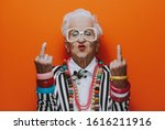Funny grandmother portraits....