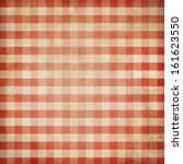 Red Grunge Checked Gingham...