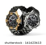 modern watch isolated on a... | Shutterstock . vector #161623613