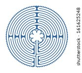labyrinth of chartres with... | Shutterstock . vector #161625248