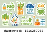 ecological stickers. collection ... | Shutterstock .eps vector #1616257036