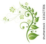 green flowers  colorful spring... | Shutterstock .eps vector #161627306