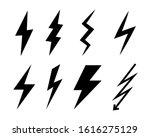 set of vector lightning icons.... | Shutterstock .eps vector #1616275129