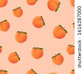 Emoji Peach Pattern. Fruit...