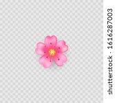 pink flower icon emoji....   Shutterstock .eps vector #1616287003