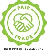 fair trade green outline icon | Shutterstock .eps vector #1616297776