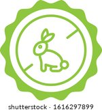 Cruelty Free Green Outline Icon