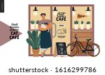 cat cafe  small business... | Shutterstock .eps vector #1616299786