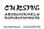 black cursive font  handwritten ...   Shutterstock .eps vector #1616328190