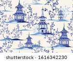 beautiful vintage ink chinese... | Shutterstock .eps vector #1616342230
