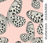 seamless vector butterflies... | Shutterstock .eps vector #1616363836