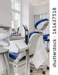 Closeup of a dental equipment, burnishers and seat - stock photo