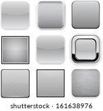set of blank grey square... | Shutterstock .eps vector #161638976
