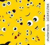 cartoon faces with emotions.... | Shutterstock .eps vector #1616411566