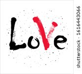 word love with mark on dust... | Shutterstock . vector #1616443066