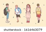 a collection of cute elementary ...   Shutterstock .eps vector #1616463079