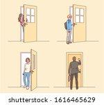 characters in various... | Shutterstock .eps vector #1616465629