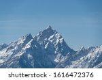 Closeup View Of Mountain Peaks...