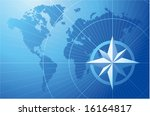 blue compass. vector background. | Shutterstock .eps vector #16164817
